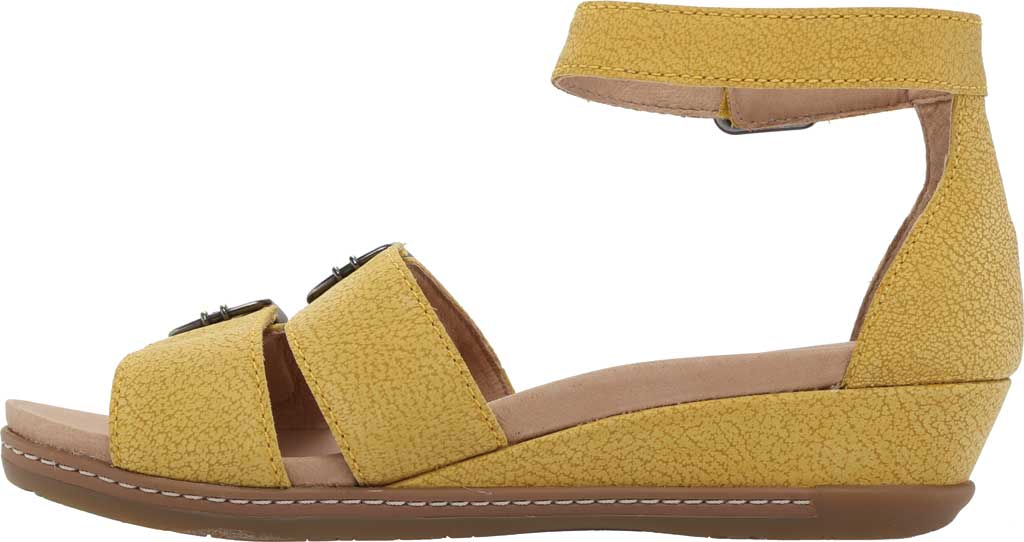 Women's Dansko Astrid Ankle Strap Sandal, Yellow Textured Nubuck, large, image 3