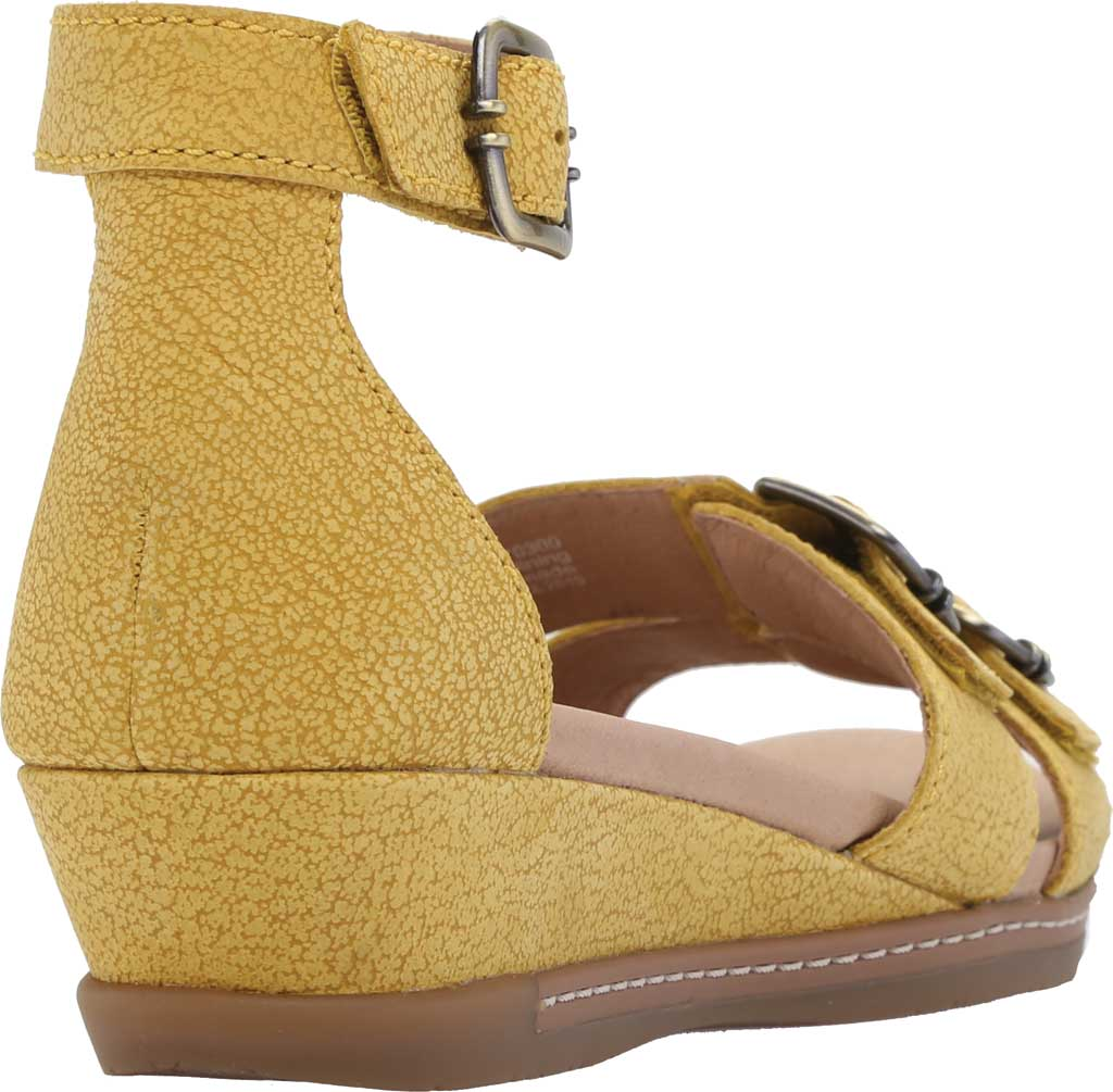 Women's Dansko Astrid Ankle Strap Sandal, Yellow Textured Nubuck, large, image 4