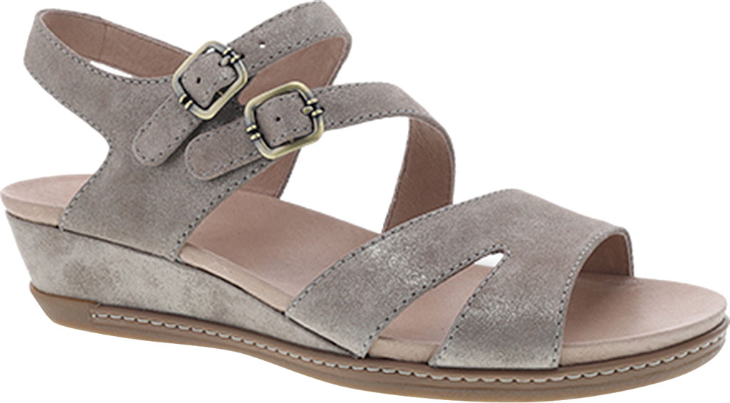 Women's Dansko Angela Strappy Sandal, Sand Metallic Leather, large, image 1