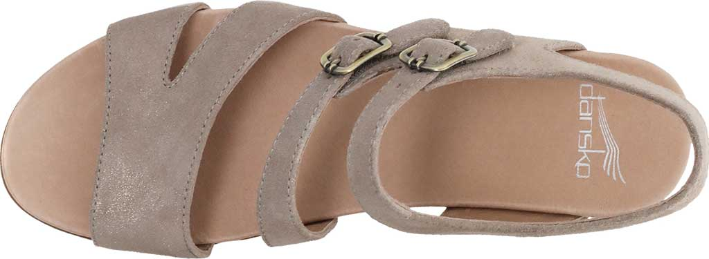 Women's Dansko Angela Strappy Sandal, Sand Metallic Leather, large, image 3