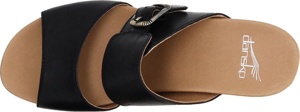 Women's Dansko Tawny Slide, Black Waxy Calf, large, image 3