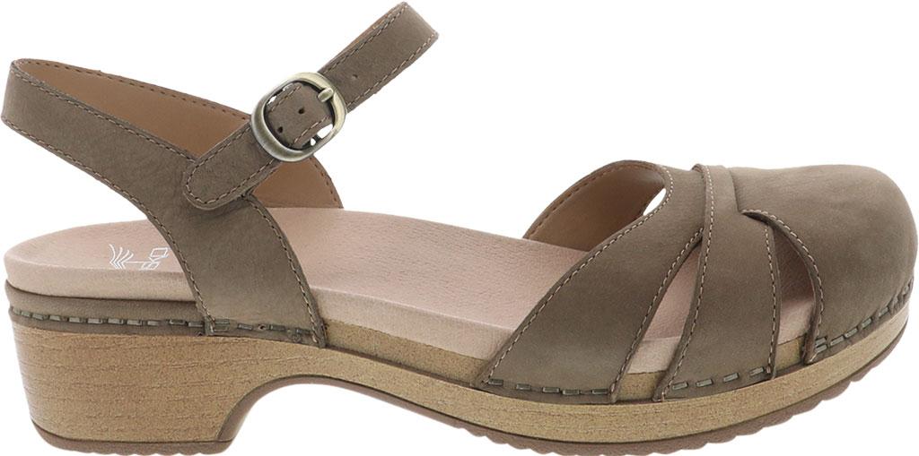 Women's Dansko Betsey Closed Toe Sandal, Taupe Milled Nubuck, large, image 2