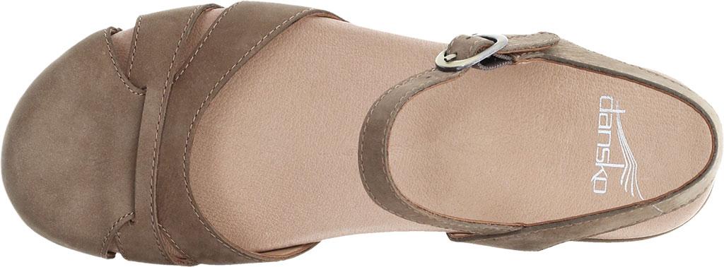 Women's Dansko Betsey Closed Toe Sandal, Taupe Milled Nubuck, large, image 3