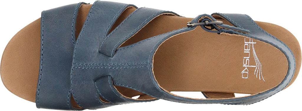 Women's Dansko Trudy Strappy Sandal, Denim Waxy Calf, large, image 3