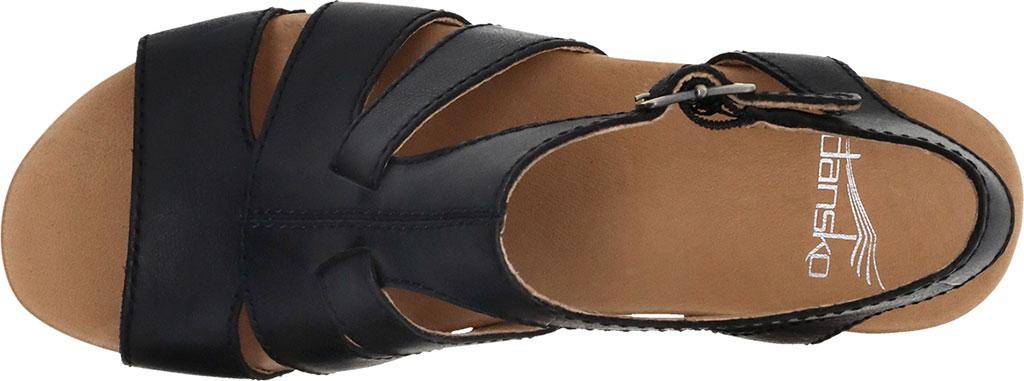 Women's Dansko Trudy Strappy Sandal, Black Waxy Calf, large, image 3