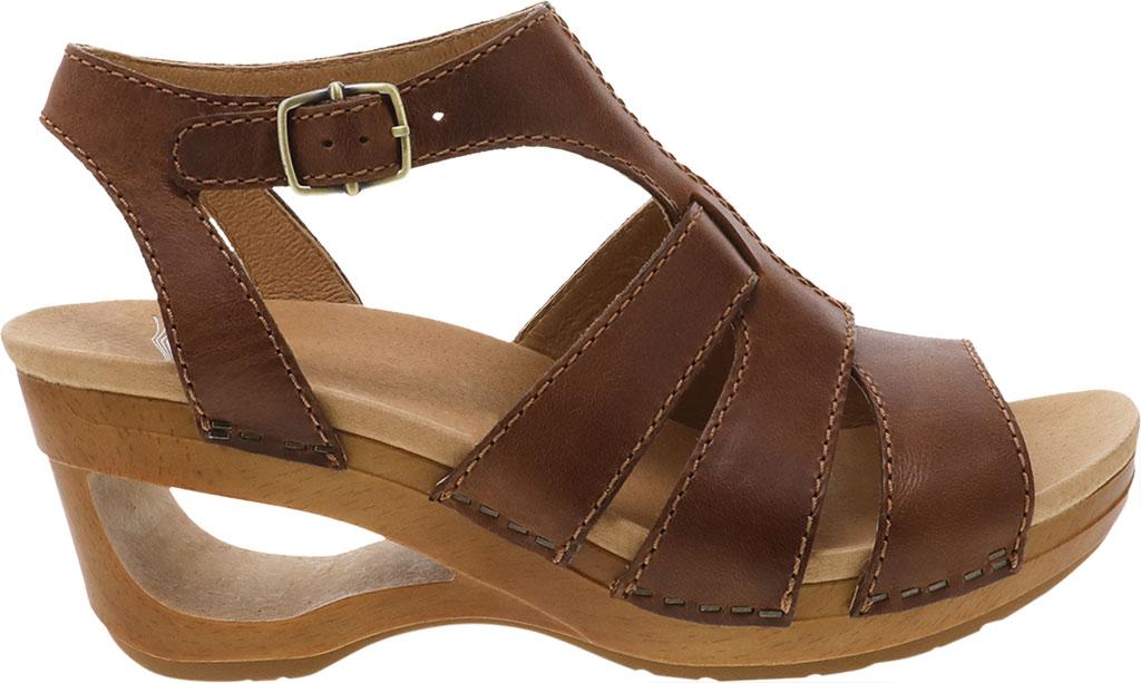 Women's Dansko Trudy Strappy Sandal, Tan Waxy Calf, large, image 2