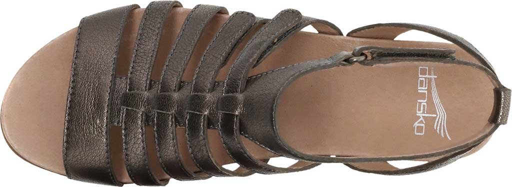 Women's Dansko Athena Strappy Sandal, Pewter Nappa, large, image 3