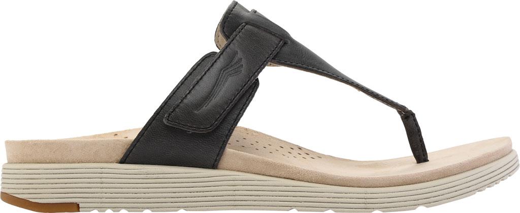 Women's Dansko Cece Thong Sandal, Black Burnished Calf, large, image 2