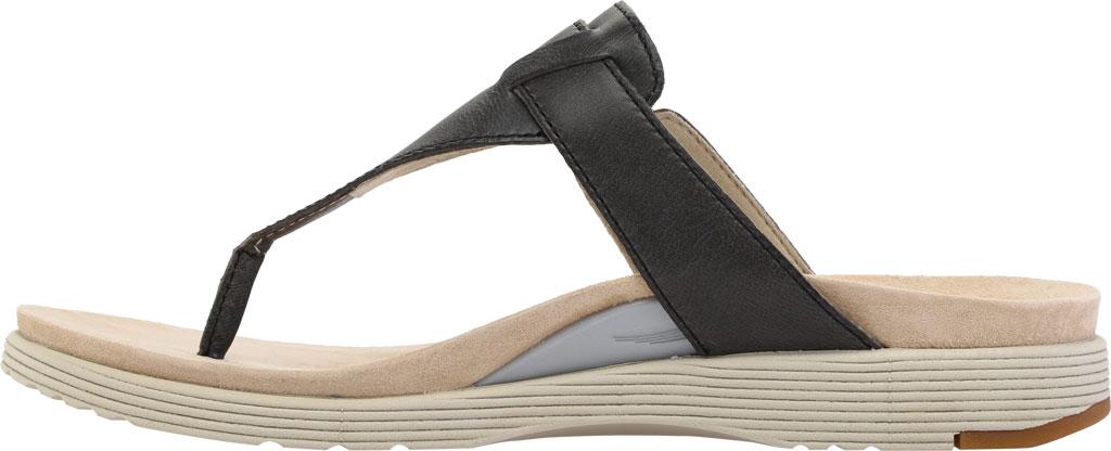 Women's Dansko Cece Thong Sandal, Black Burnished Calf, large, image 3
