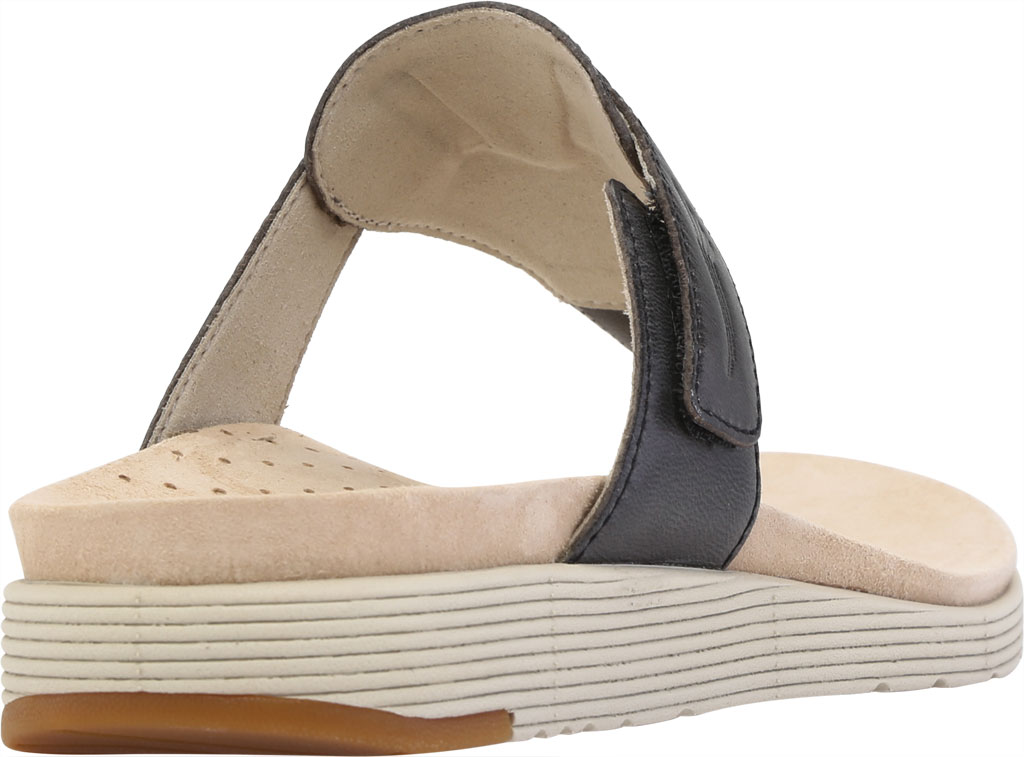 Women's Dansko Cece Thong Sandal, Black Burnished Calf, large, image 4