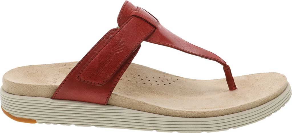 Women's Dansko Cece Thong Sandal, Red Burnished Calf, large, image 2