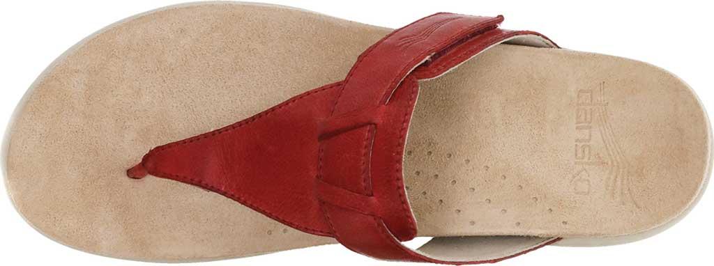 Women's Dansko Cece Thong Sandal, Red Burnished Calf, large, image 3