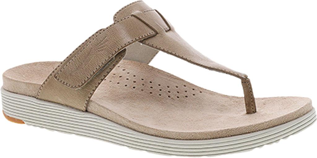 Women's Dansko Cece Thong Sandal, Sand Burnished Calf, large, image 1
