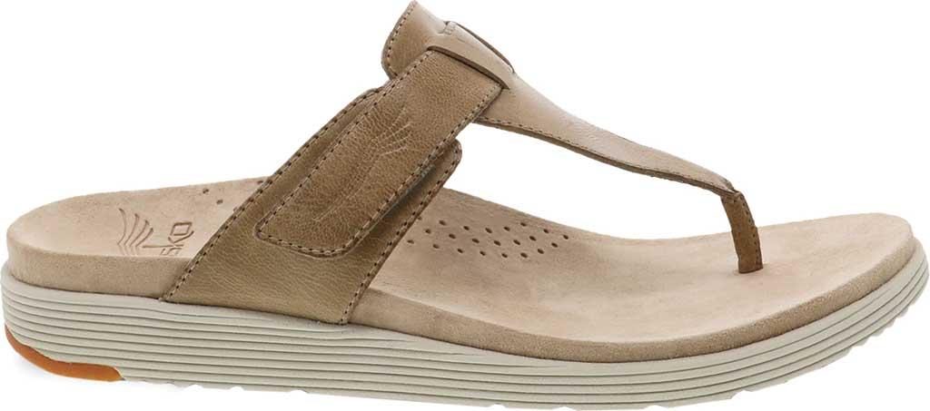 Women's Dansko Cece Thong Sandal, Sand Burnished Calf, large, image 2