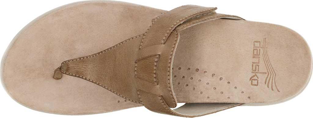 Women's Dansko Cece Thong Sandal, Sand Burnished Calf, large, image 3