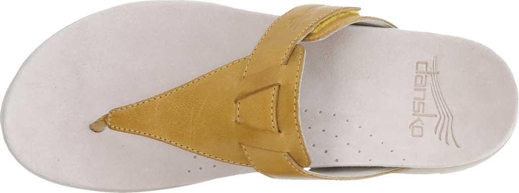 Women's Dansko Cece Thong Sandal, Yellow Burnished Calfskin, large, image 4