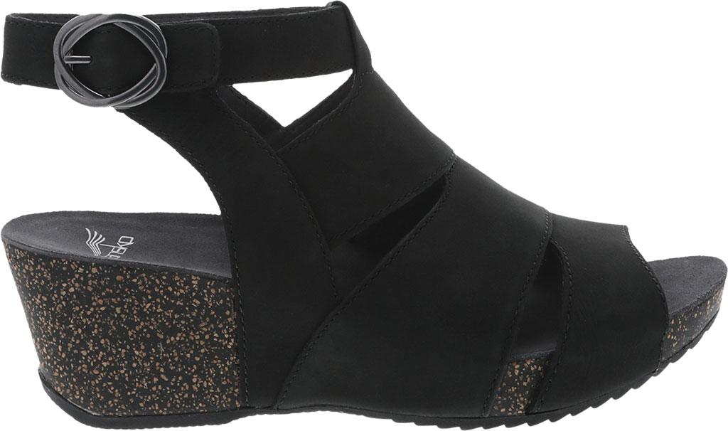 Women's Dansko Sera Strappy Sandal, Black Milled Nubuck, large, image 2