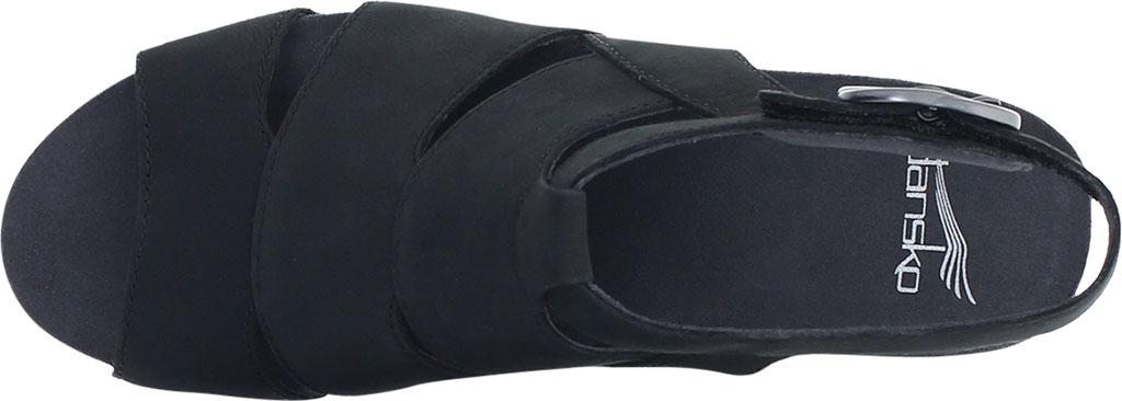 Women's Dansko Sera Strappy Sandal, Black Milled Nubuck, large, image 3