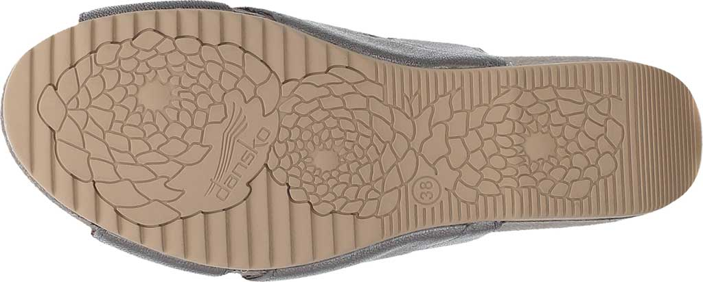 Women's Dansko Sera Strappy Sandal, Pewter Nappa, large, image 4