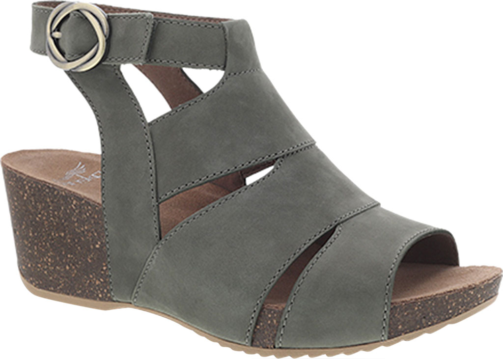 Women's Dansko Sera Strappy Sandal, Sage Milled Nubuck, large, image 1