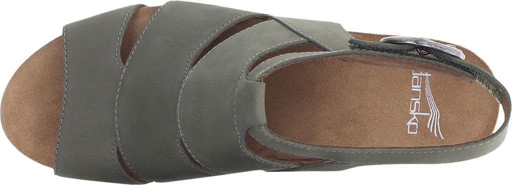 Women's Dansko Sera Strappy Sandal, Sage Milled Nubuck, large, image 3