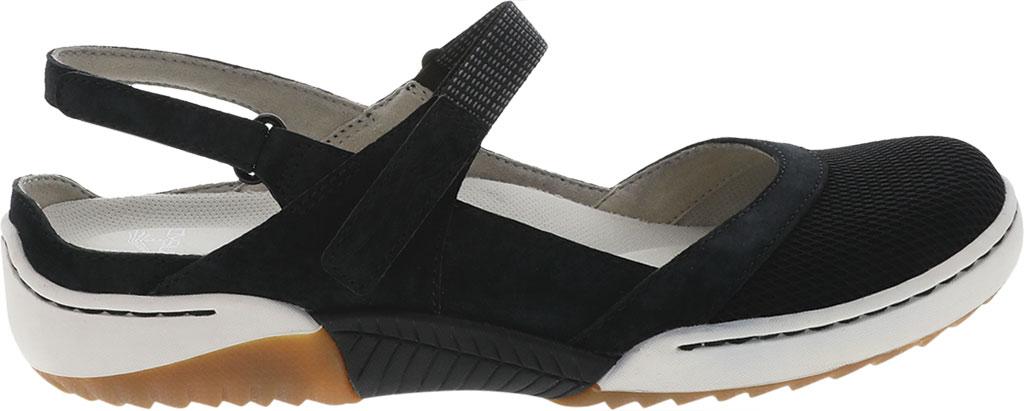 Women's Dansko Raeann Closed Toe Sandal, Black Suede, large, image 2