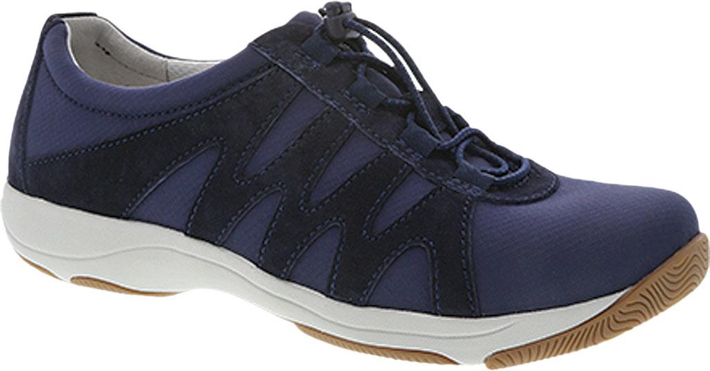 Women's Dansko Harlie Sneaker, Navy Suede, large, image 1