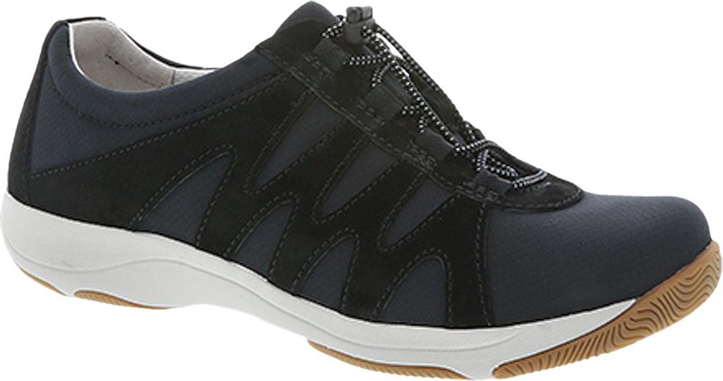 Women's Dansko Harlie Sneaker, Black Suede, large, image 1