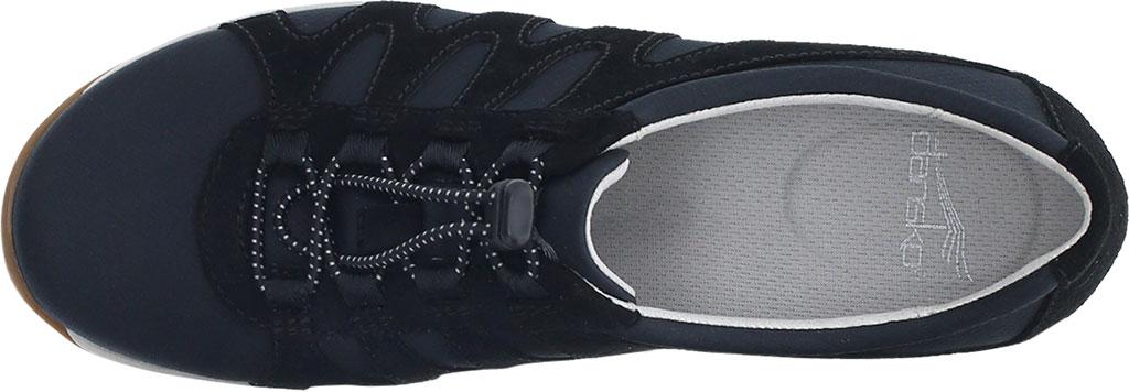 Women's Dansko Harlie Sneaker, Black Suede, large, image 3