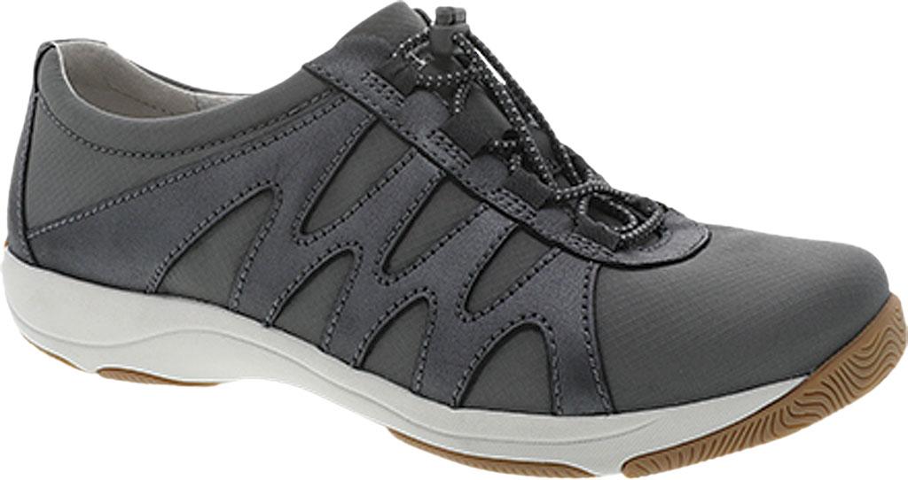 Women's Dansko Harlie Sneaker, Charcoal Metallic Suede, large, image 1