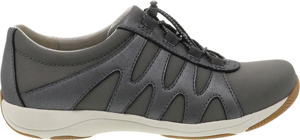 Women's Dansko Harlie Sneaker, Charcoal Metallic Suede, large, image 2