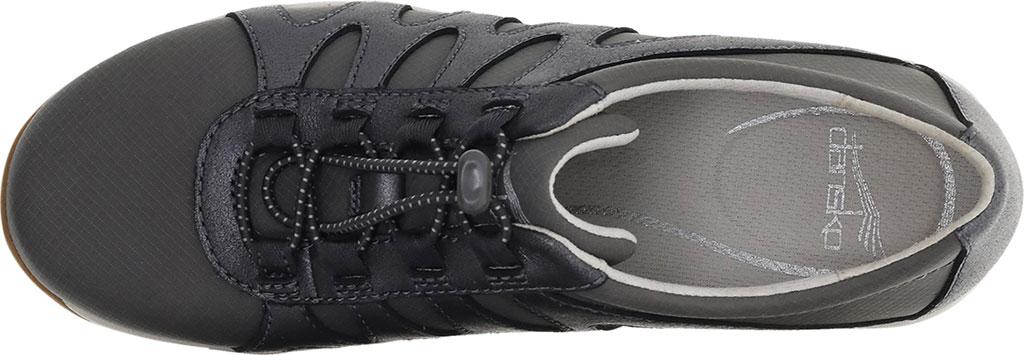 Women's Dansko Harlie Sneaker, Charcoal Metallic Suede, large, image 3
