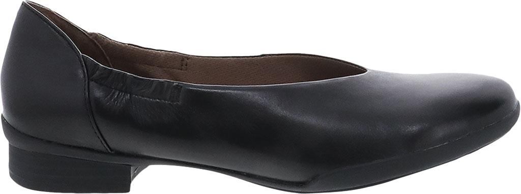 Women's Dansko Kira Ballet Flat, Black Aniline Calf Leather, large, image 2