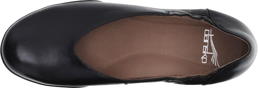 Women's Dansko Kira Ballet Flat, Black Aniline Calf Leather, large, image 3