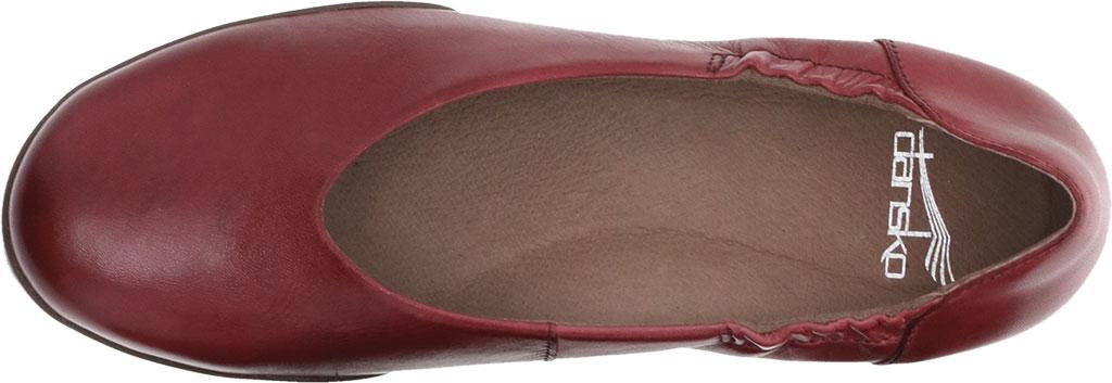 Women's Dansko Kira Ballet Flat, Cabernet Aniline Calf Leather, large, image 3