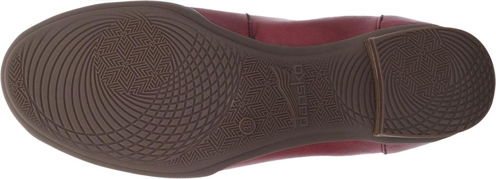 Women's Dansko Kira Ballet Flat, Cabernet Aniline Calf Leather, large, image 4
