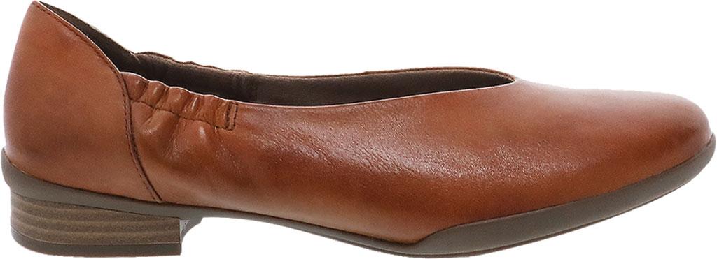 Women's Dansko Kira Ballet Flat, Luggage Aniline Calf Leather, large, image 2