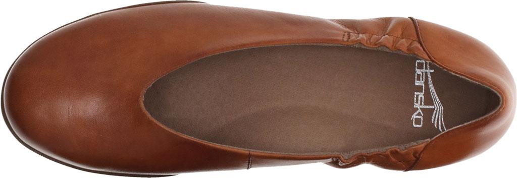 Women's Dansko Kira Ballet Flat, Luggage Aniline Calf Leather, large, image 3