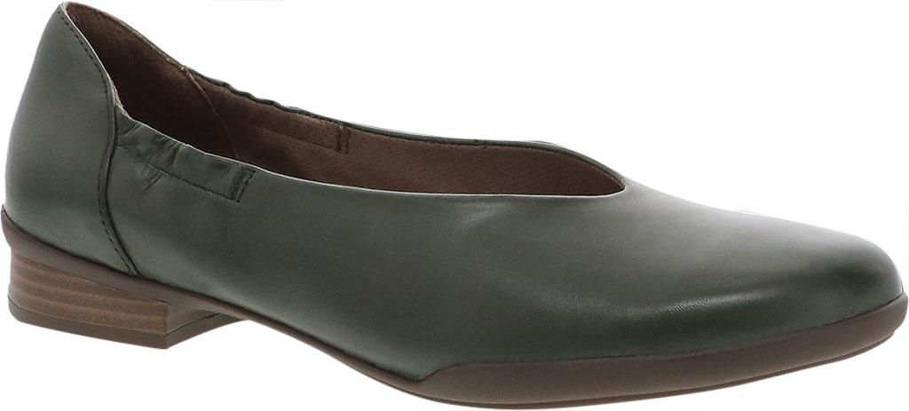 Women's Dansko Kira Ballet Flat, Lichen Aniline Calf Leather, large, image 1