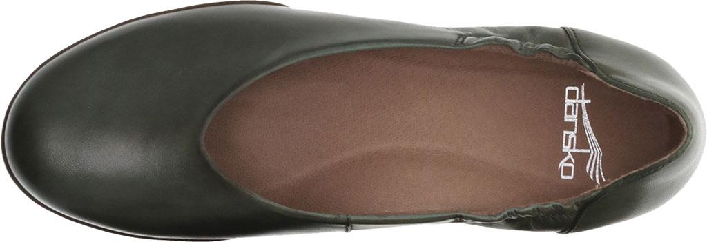 Women's Dansko Kira Ballet Flat, Lichen Aniline Calf Leather, large, image 3