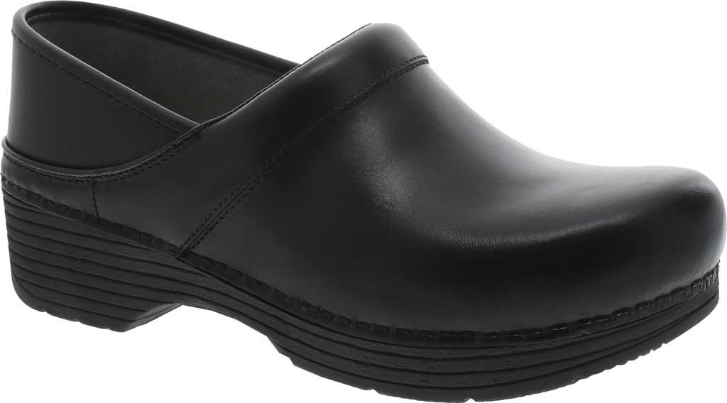 Women's Dansko LT Pro Closed Back Clog, Black Leather, large, image 1