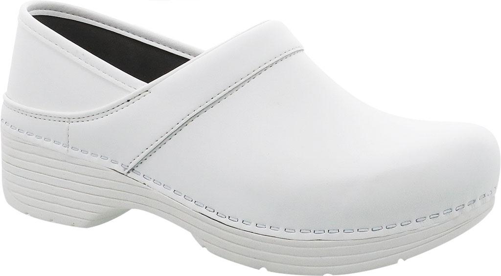 Women's Dansko LT Pro Closed Back Clog, White Box Leather, large, image 1
