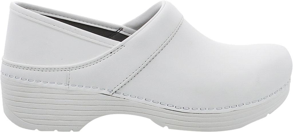 Women's Dansko LT Pro Closed Back Clog, White Box Leather, large, image 2