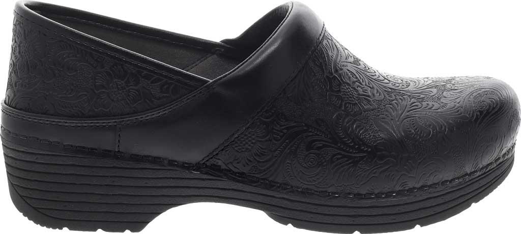 Women's Dansko LT Pro Closed Back Clog, Black Floral Tooled Leather, large, image 2
