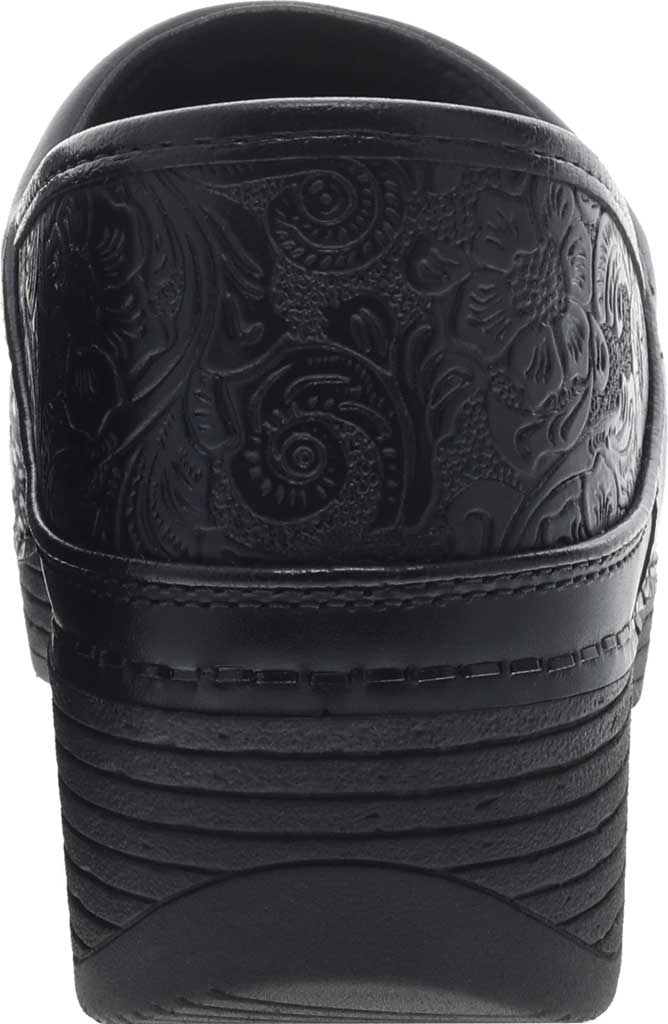 Women's Dansko LT Pro Closed Back Clog, Black Floral Tooled Leather, large, image 3