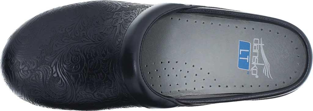 Women's Dansko LT Pro Closed Back Clog, Black Floral Tooled Leather, large, image 4