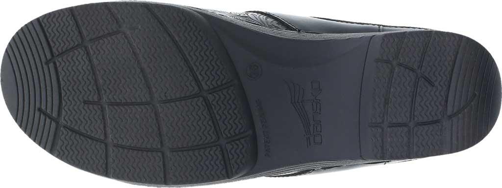 Women's Dansko LT Pro Closed Back Clog, Black Floral Tooled Leather, large, image 5