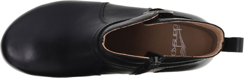 Women's Dansko Anya Ankle Bootie, Black Waxy Burnished Leather, large, image 3