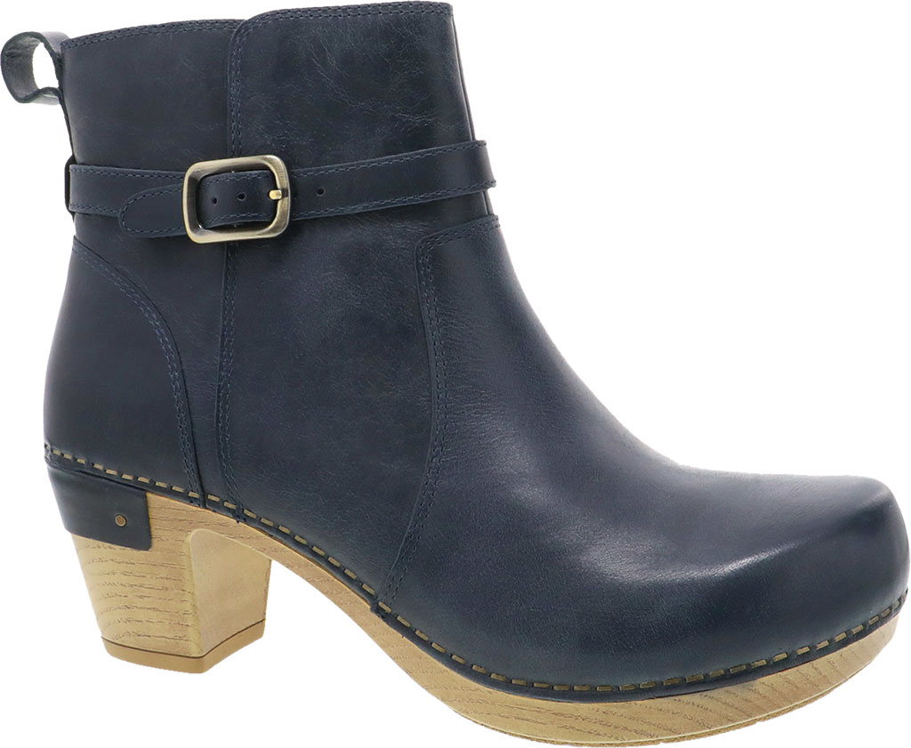 Women's Dansko Anya Ankle Bootie, Denim Waxy Burnished Leather, large, image 1