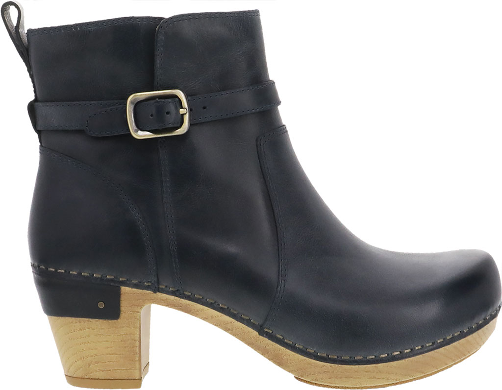 Women's Dansko Anya Ankle Bootie, Denim Waxy Burnished Leather, large, image 2